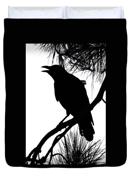 Crow Silhouette Duvet Cover