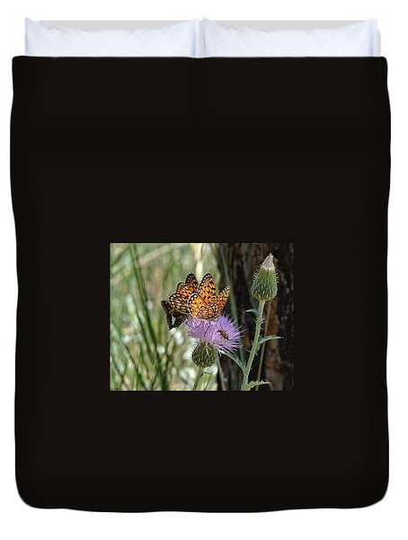 Crowded Thistle Duvet Cover