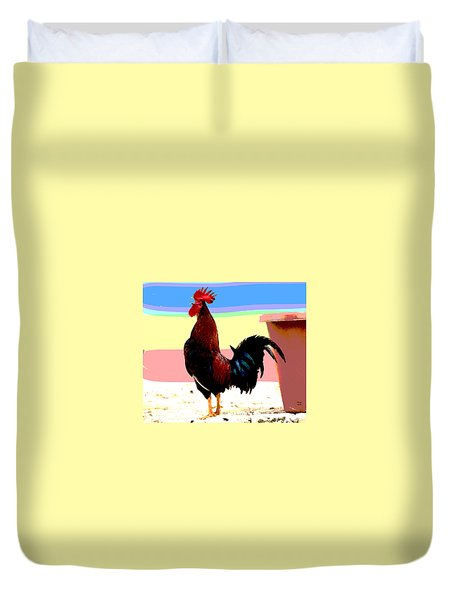 Crowing Cock Duvet Cover by Charles Shoup