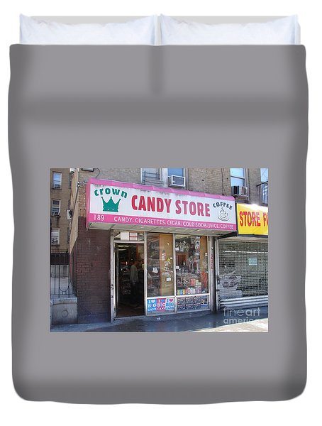 Crown Candy Store  Duvet Cover by Cole Thompson