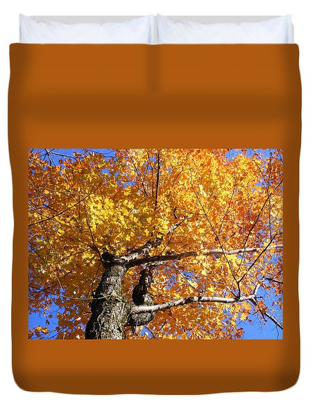 Crown Fire Duvet Cover by Dave Martsolf