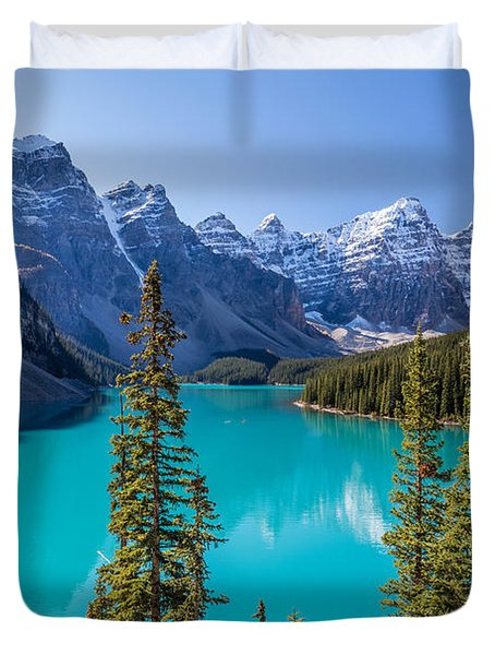 Crown Jewel Of The Canadian Rockies Duvet Cover