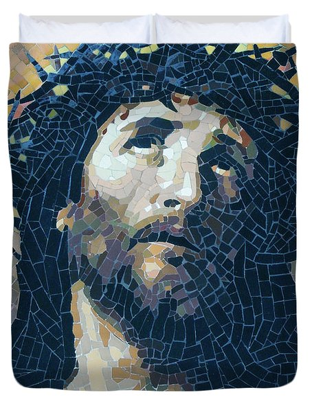 Crown Of Thorns 2 - Ceramic Mosaic Wall Art Duvet Cover