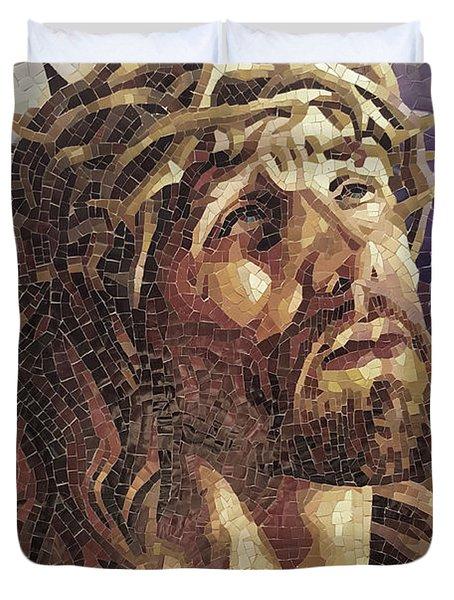 Crown Of Thorns 3 - Ceramic Mosaic Wall Art Duvet Cover