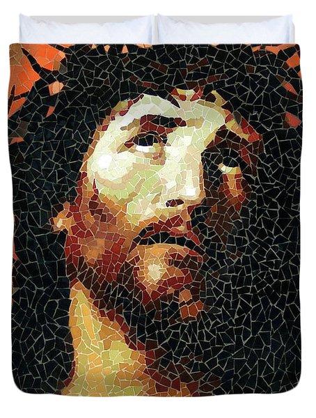 Crown Of Thorns - Ceramic Mosaic Wall Art Duvet Cover