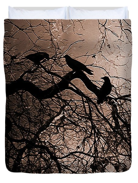 Crows 9 Duvet Cover