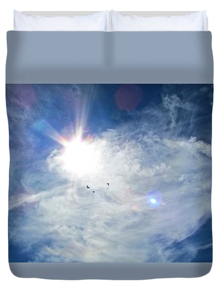Crows Above Duvet Cover