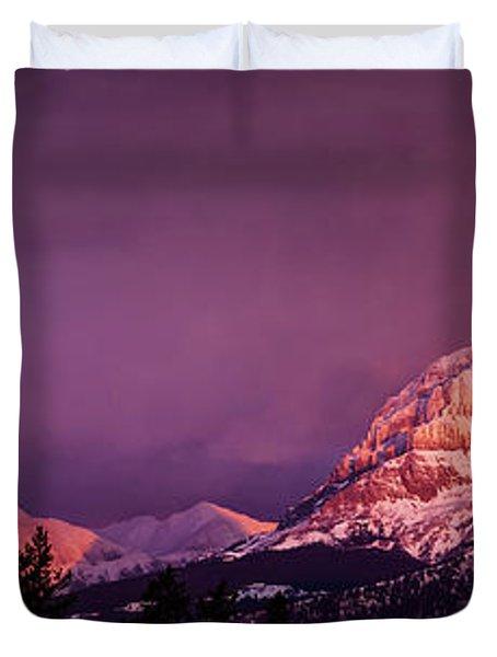 Crowsnest Sunrise Duvet Cover