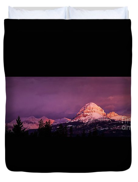 Crowsnest Sunrise Duvet Cover