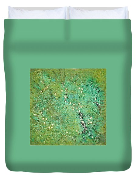 Cruciferous Flower Duvet Cover by Bernard Goodman