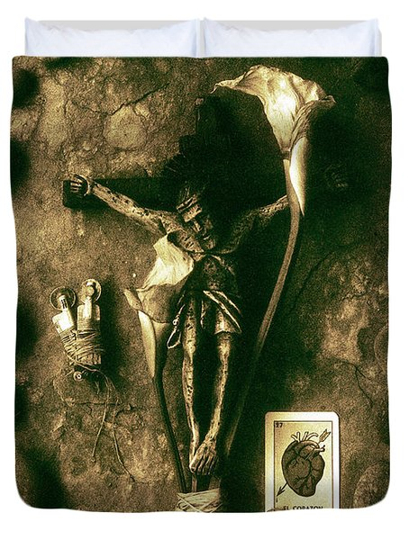 Crucifix, The Loss Duvet Cover