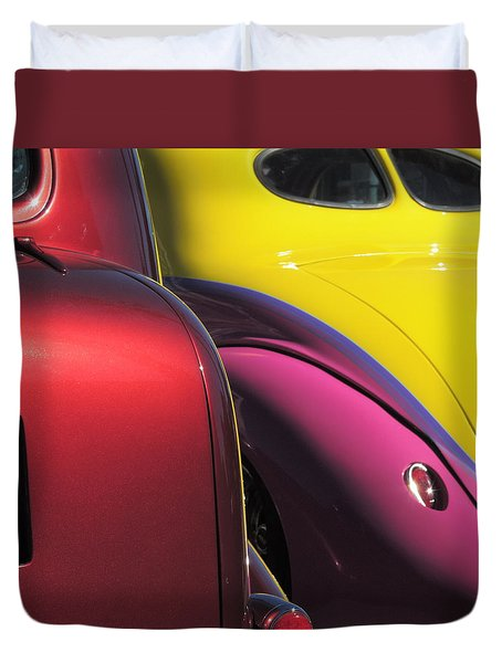 Cruise In Colors Duvet Cover