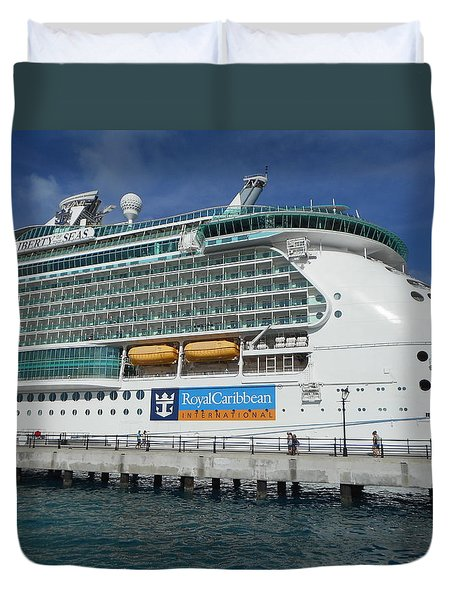 Cruise Ship Duvet Cover