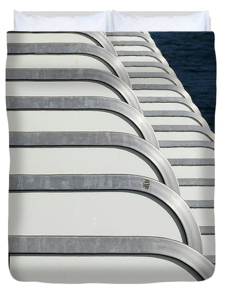 Cruise Ship's Balconies Duvet Cover