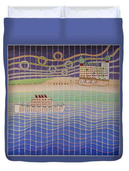 Cruise Vacation Destination Duvet Cover