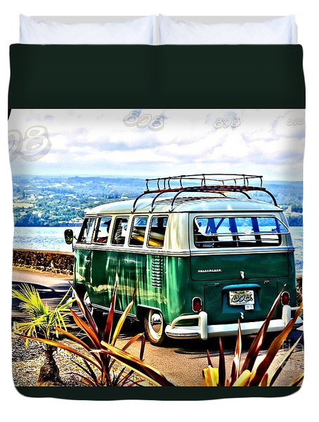 Duvet Cover featuring the photograph Cruisin' 808 by DJ Florek