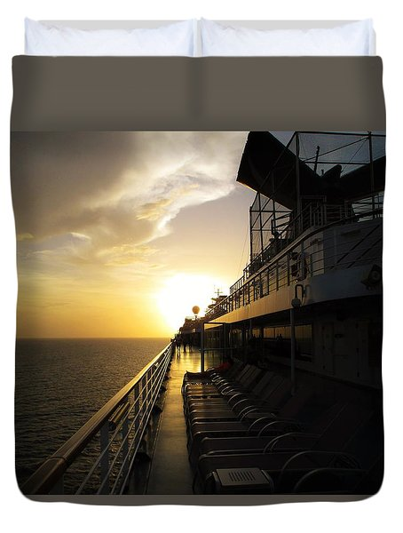 Cruisin' At Sunset Duvet Cover