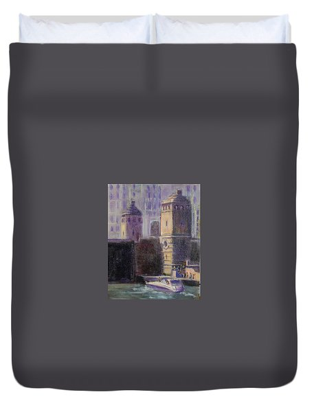 Cruising Chicago Duvet Cover