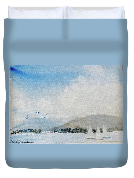 Cruising In Company Along The Tasmania Coast  Duvet Cover
