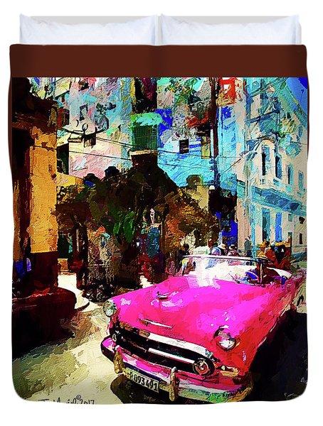 Cruising In Havana Duvet Cover