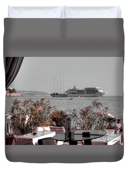 Cruising Past And Present Duvet Cover