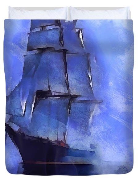 Cruising The Open Seas Duvet Cover