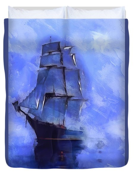 Cruising The Open Seas Duvet Cover