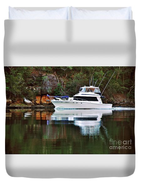 Cruising The River By Kaye Menner Duvet Cover