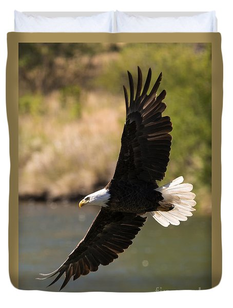 Cruising The River Duvet Cover by Mike Dawson