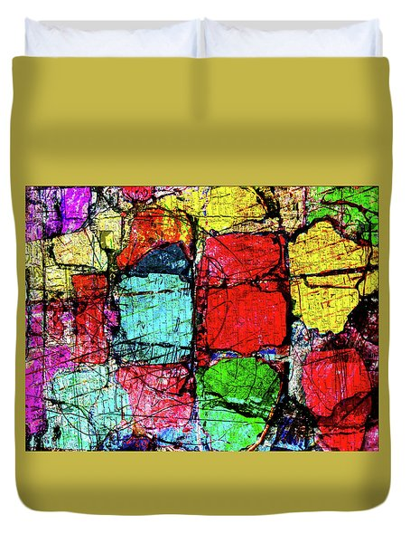 Crumbling Stone Wall Duvet Cover by Don Gradner