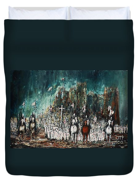 Marching Out Duvet Cover