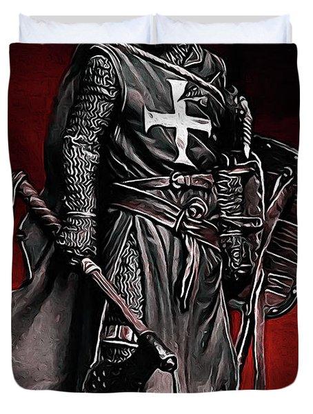 Crusader Warrior - Medieval Warfare Duvet Cover