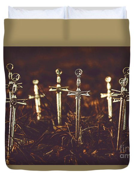 Crusaders Cemetery Duvet Cover