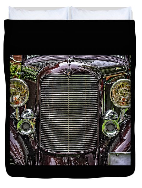 Crusin' With A 32 Desoto Duvet Cover by Thom Zehrfeld