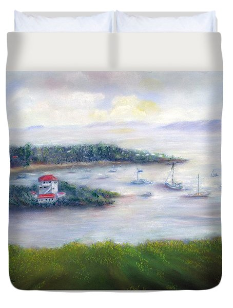 Cruz Bay Remembered Duvet Cover