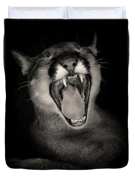 Cruz Yawning Duvet Cover
