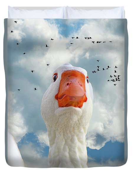 Cry Of The Wild Goose Duvet Cover