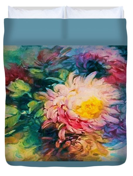 Chrysanthemums Duvet Cover