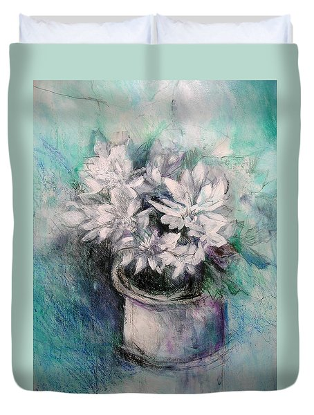 Crysanthymums Duvet Cover by Chris Hobel