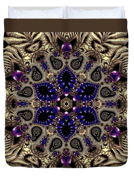 Duvet Cover featuring the digital art Crystal 61345 by Robert Thalmeier