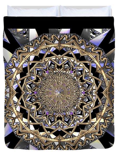 Duvet Cover featuring the digital art Crystal Ahau  by Robert Thalmeier