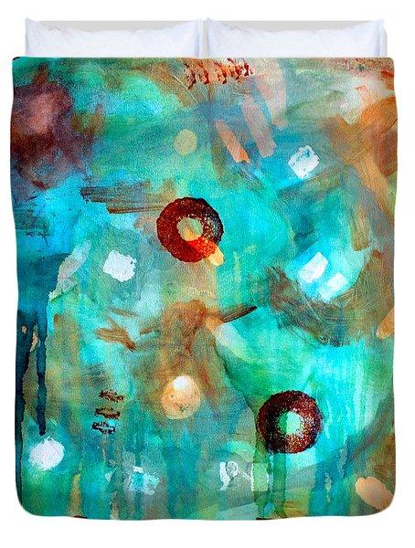 Crystal Blue Persuasion Duvet Cover by Shelley Graham Turner
