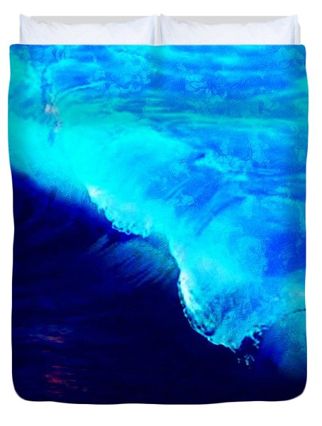 Crystal Blue Wave Painting Duvet Cover