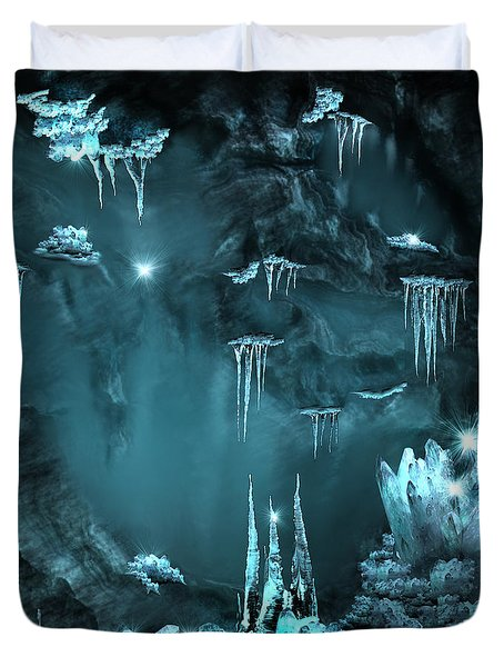 Crystal Cave Mystery Duvet Cover