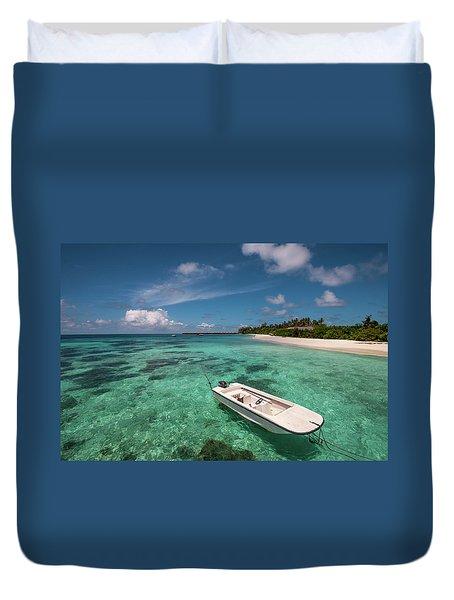 Crystal Clarity. Maldives Duvet Cover by Jenny Rainbow