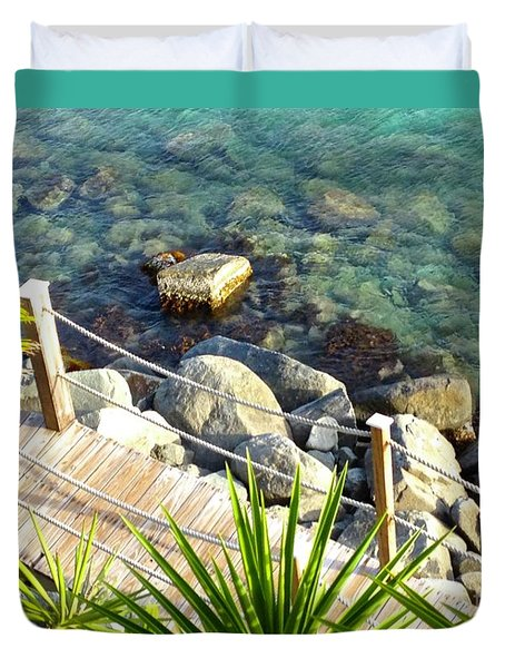 Crystal Clear Duvet Cover by Beth Saffer