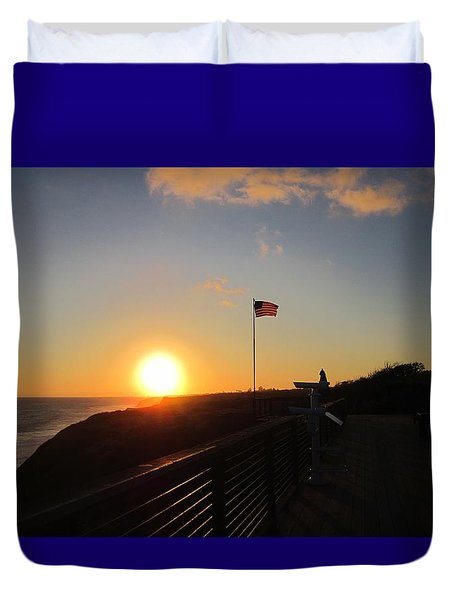 Crystal Cove 4th Of July Duvet Cover by Dan Twyman
