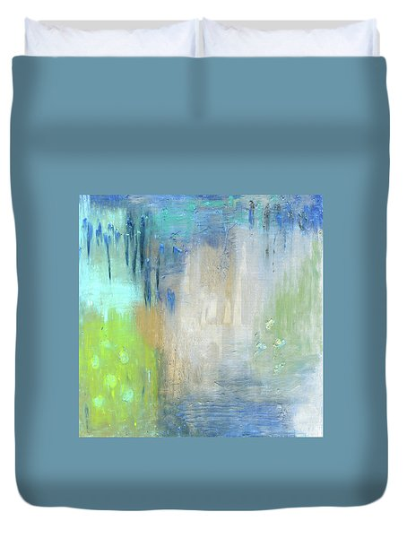 Duvet Cover featuring the painting Crystal Deep  by Michal Mitak Mahgerefteh