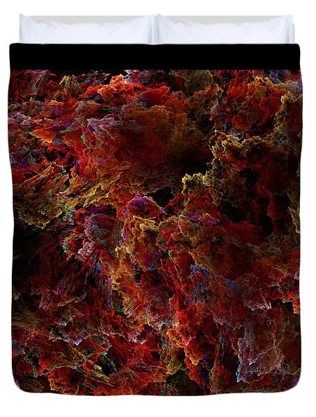 Duvet Cover featuring the digital art Crystal Inspiration Number Two Close Up by Olga Hamilton