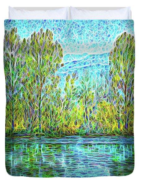 Crystal Lake Enchantment Duvet Cover